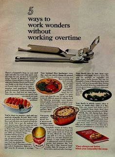 campbell's soup cookbook ad