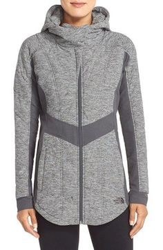 Free shipping and returns on The North Face 'Pseudio' Hooded Jacket at Nordstrom.com. A quilted zip-front jacket offers soft, comforting warmth in a tailored, close-fitting silhouette. When fully zipped, the generous convertible collar frames the face and keeps cold weather out.