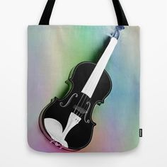Violin Tote Bag by Christine baessler - $22.00