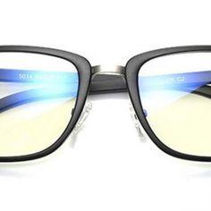 Dizajnové pánske okuliare na počítač s jemným odolným čiernym rámom Mirrored Sunglasses, Fashion, Moda, Fashion Styles, Fashion Illustrations