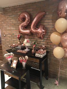 24th Birthday, Birthday Wishes, Birthday Parties, Happy Birthday, Surprise Party Decorations, Girl Birthday Decorations, Dfs, Birthdays, Pink Party Decorations
