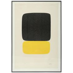 """Ellsworth Kelly """"Noir Sur Jaune"""" 