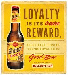 "Shiner ""Bock Love"" Print Ad designed by @McGarrah Jessee"