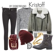 Kristoff by leslieakay on Polyvore featuring Topshop, McQ by Alexander McQueen, Charlotte Russe, disney, disneybound and disneycharacter