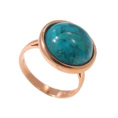 Statement Ring - Turquoise Gold Ring - Turquoise Ring - December Birthstone - Turquoise Stone - Vintage Ring - Rose Gold Ring - Round Ring #jewelry #handmadejewelry #fashionjewelry #instajewelry #jewelrygram #jewelrydesign #fashion #instafashion #fashionista #fashionblogger #style #lifestyle