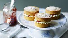 BBC Food - Recipes - Mini Victoria sponge cakes
