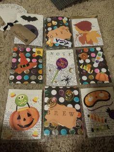 Halloween themed pocket letter