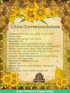 Litha, or Midsummer, is a celebration of the summer solstice. Midsummer represents the Sun King in all his glory. Wiccan Sabbats, Wiccan Spells, Magick, Green Witchcraft, Paganism, Samhain, Summer Solstice Ritual, Winter Solstice, Holly King