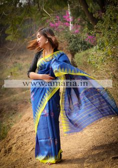 Buy Handloom Moirangphee saree from Manipur Mulberry Silk -Peacock motif