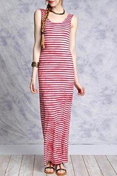 Calvin Klein Plus Plus Size Striped Crisscross Maxi Dress Women s