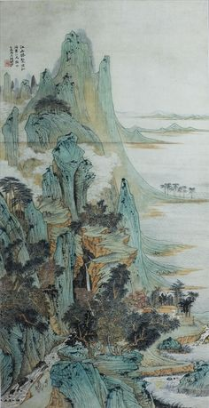 Lu Yanshao(陆俨少) , 江山胜览图