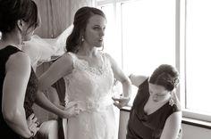 getting ready Wedding Photography, Wedding Dresses, Fashion, Bride Dresses, Moda, Bridal Gowns, Fashion Styles, Weeding Dresses, Wedding Dressses