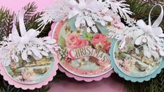 www.krokihobby.hu~Pink Christmas - Sizzix 664221~ Pink Christmas, Table Decorations, Youtube, Home Decor, Decoration Home, Room Decor, Dinner Table Decorations, Interior Decorating