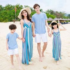 Summer Mother Daughter Dresses 2017 Family Matching Outfits Long Dress Family Clothing Mother And Daughter Clothes Couple Outfits, Matching Family Outfits, Kids Outfits, Summer Outfits, Beach Dresses, Girls Dresses, Mother Daughter Fashion, Kids Fashion, Fashion Outfits