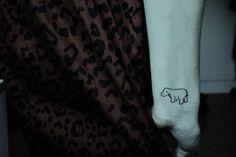 hippo tattoo.. adorable!