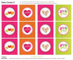 Free printable party design : cupcakes toppers and labels.