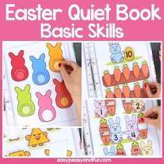 Printable Easter Quiet Book & Activity Book for Pre-K and K Crafts for Kids, Coloring pages, How to Draw TutorialsPrintable Easter Quiet Book – Activity Book for Pre-K and KCount with the bunnies and Easter Activities For Kids, Toddler Learning Activities, Preschool Learning Activities, Spring Activities, Fun Learning, Sheep Crafts, K Crafts, Turtle Coloring Pages, Kids Coloring