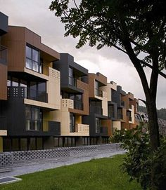 Contemporary Balconies Design - Modern Tetris Apartments Architecture
