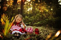 on the way to grandmother's house | a little red riding hood story | Kansas Studios | Kansas Pitts Photography