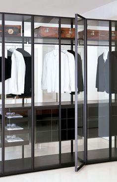 Dressing contemporain / en chêne / haut de gamme / sur mesure - AIR - Porro