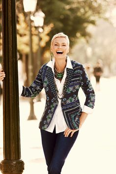 A passion for the pattern jacket #chicos...... my favorite Chico' model...I want anything she wears!!