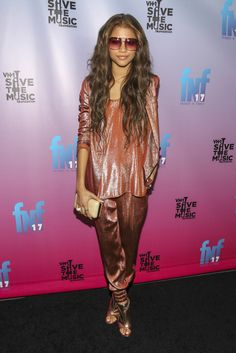 Fabulously Spotted: Zendaya Coleman Wearing Gucci - Friends 'N' Family 17th Annual Pre-GRAMMY Party  - http://www.becauseiamfabulous.com/2014/01/zendaya-coleman-wearing-gucci-friends-n-family-17th-annual-pre-grammy-party/