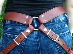 Custom Dual Sword Belt by DarkAgeLeathers on Etsy
