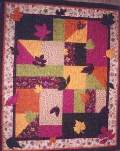 leaves Quilt PATTERN  PDF  Quilt  Wall Art  Throw  by pixieharmony, $5.95