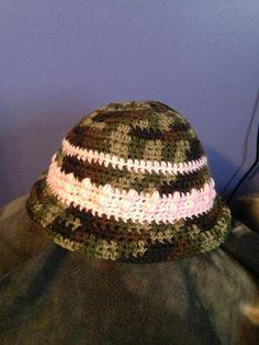 Crochet Camo Hat by CrystalCrochetCrafts on Etsy, $15.99