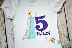 Frozen Elsa Birthday Shirt number can be by thelionandunicorn, $25.00