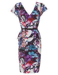 Cap Sleeve Bloom Soft Peplum Dress with Belt by Basque from Myer. #colourfulbridesmaid #weddingstyl