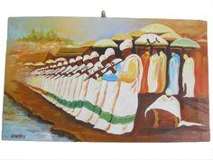 Painting - Timkat Celebration – Ethiopian Orthodox celebration of Epiphany #Impressionism