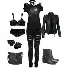 Cute Emo Outfits, Bad Girl Outfits, Punk Outfits, Gothic Outfits, Teenager Outfits, Teen Fashion Outfits, Swag Outfits, Grunge Outfits, Outfits For Teens