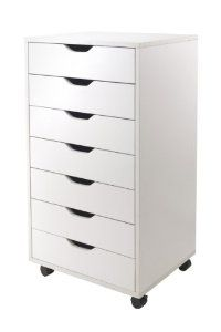 Amazon.com: Winsome Halifax Cabinet for Closet/Office, 7 Drawers, White: Kitchen & Dining