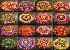 Voici lesjolies créations colorées de l'artiste Shanthi Sridharan, qui réalise de superbesmandalas inspirés par les symbolesbouddhistes utilisés pour