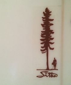 This surf company is based on Vancouver Island and sitka is a type of tree that… Tree Graphic, Graphic Art, Graphic Design, Website Design Inspiration, Logo Inspiration, Design Ideas, Surf Logo, Tree Logos, Island Design