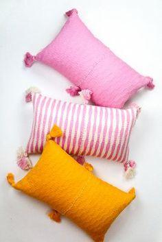 Orange Pillows, Pink Pillows, Colorful Pillows, Bed Pillows, Colorful Rooms, Accent Pillows, Cushions, Bedroom Orange, Bubblegum Pink