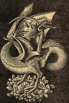 Dragon Medieval, Medieval Art, Monster Tattoo, Demon Days, Dragon Sketch, Cool Dragons, Mythological Creatures, Sea Monsters, Dragon Art