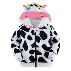 2-7T girls warm Children Outwear cute cotton winter clothes fashion cow bot hot selling kids hoodies jacket coats for girl //Price: $29.70 //     ##babyfashion