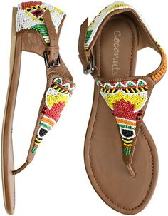 i love me some beaded sandals!