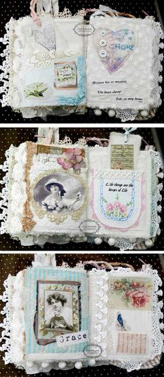 Beautiful Women, Beautiful Quotes Fabric Book = shabby cottage studio