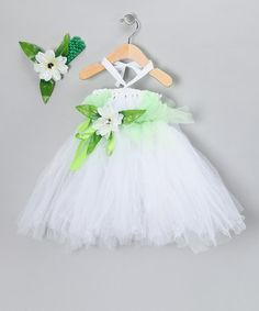 Take a look at this Green Tutu Dress Dress & Headband - Infant, Toddler & Girls by Bébé Oh La La on #zulily today!