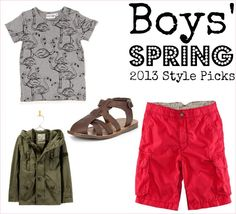 Cool clothes for boys to wear in spring and summer 2013