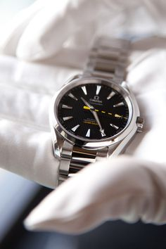 Dayam!!! This is awesome! Love the chrome accentuated with the yellow! Omega Seamaster Aqua Terra anti-magnetic watch.