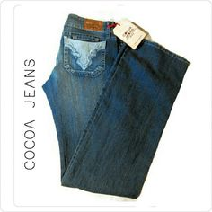"""RESERVED FOR @1cherylBRAZILIAN  COCOA JEANS NWT BRAZILIAN COCOA JEANS SIZE 12 78% COTTON 20% POLYESTER 2% SPANDEX 34"""" X 34"""" COCOA JEANS Jeans Flare & Wide Leg"""