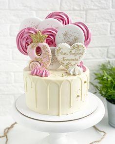 7th Birthday, Happy Birthday, Birthday Cake, Congratulations Cake, Fondant, Sofia Cake, Meringue Cookies, Cake Pictures, Drip Cakes