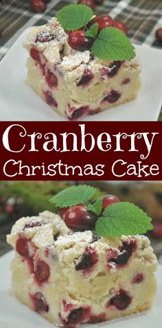 Cranberry Christmas Cake - The Most Requested Dessert for The Holidays - Thanksgiving Recipes Holiday Cakes, Holiday Desserts, Holiday Baking, Holiday Recipes, Christmas Recipes, Köstliche Desserts, Delicious Desserts, Dessert Recipes, Snacks Recipes