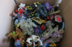 Box Lot of 90+ Boys Loose Vtg. Happy Meal Toys McDs, BK, Wendys, DQ, Taco Bell…