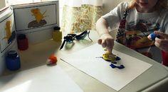 Mouse Paint art #crayonfreckles