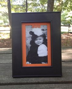 Halloween Frame with Custom Mat Boo/Personalized by WoodBeeLove